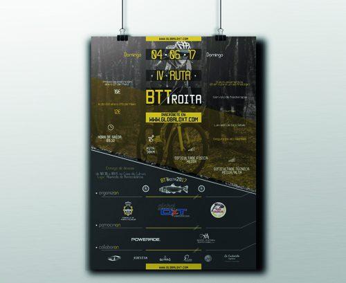 Diseño cartelería BTTroita