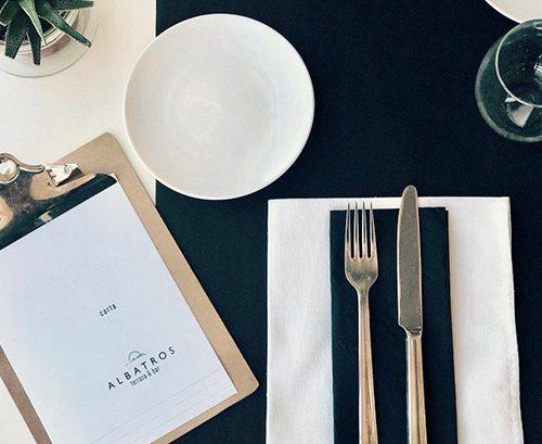 Diseño de carta para Albatros Terraza & Bar