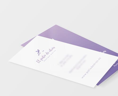 Diseño de logotipo y tarjeta para El patio de atrás