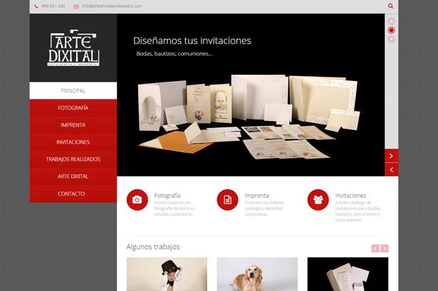 Diseño web para tienda de fotografía e impresión
