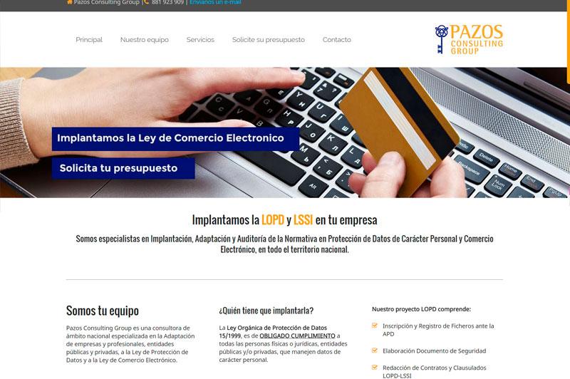 Diseño web consultoría online