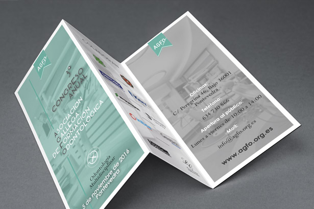 Diseño de tríptico publicitario