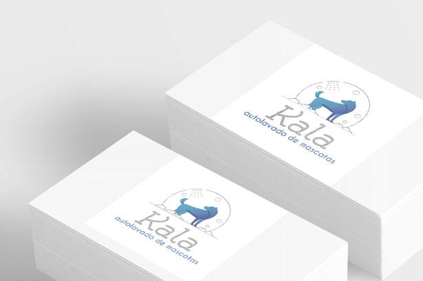 Diseño logotipo para autolavado de mascotas Kala