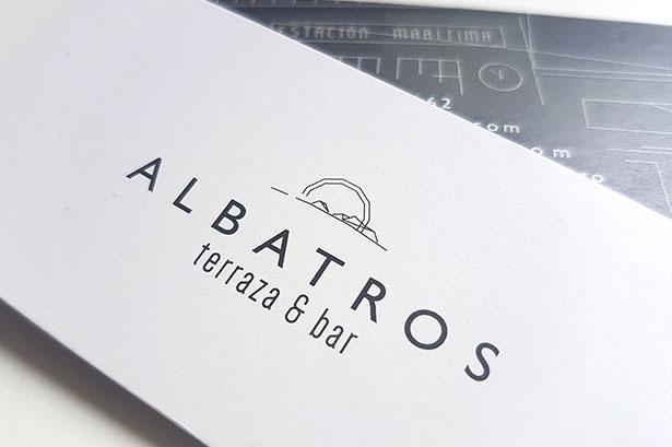 Diseño de logotipo para Albatros Terraza Bar, de Vigo