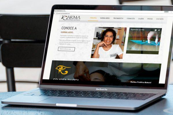 Diseño de página web para Karima Abdel Centro de Estética
