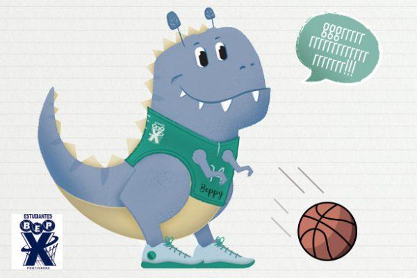 Diseño de mascota para el C.B. Estudiantes Pontevedra
