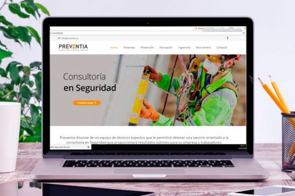 Diseño web para Preventia